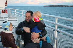 Telling tales of ferry trips past (quinn.anya) Tags: andy sam paul toddler preschooler ferry marthasvineyard