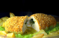 Chicken Kiev with Chips and Mushy Peas (Tony Worrall) Tags: add tag ©2017tonyworrall images photos photograff things uk england food foodie grub eat eaten taste tasty cook cooked iatethis foodporn foodpictures picturesoffood dish dishes menu plate plated made ingrediants nice flavour foodophile x yummy make tasted meal nutritional freshtaste foodstuff cuisine nourishment nutriments provisions ration refreshment store sustenance fare foodstuffs meals snacks bites chow cookery diet eatable fodder chicken kiev chips mushy peas meat