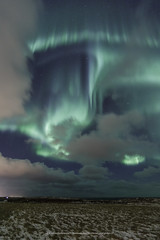 In the clouds. (Kjartan Guðmundur) Tags: iceland ísland auroraborealis northernlights zorzapolarna polarlict nordlys snow clouds canoneos5dmarkiv tokinaatx1628mmf28profx kjartanguðmundur arctic photoguide tourguide