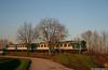 668 tra gli alberi (Massimo Minervini) Tags: aln668 trenitalia trenord vicobellignano bresciaparma automotrice casalmaggiore littorina fs diesel canon400d tramonto sun sunset lightporn light