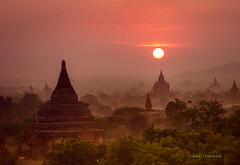 myanmar (sandilesmana28) Tags: sunrise bagan myanmar pagoda herritage travel fog pink
