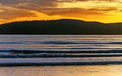Sunrise Seascape (Merrillie) Tags: uminabeach uminapoint australia beach centralcoast centralcoastnsw clouds coast coastal daybreak landscape mountains nature newsouthwales nsw nswcentralcoast scenery sea seascape sunrise water waterscape