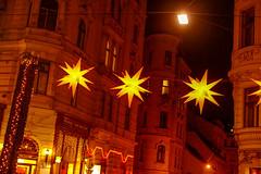 Christmas stars (----------------------xxx-----------------------) Tags: vienna wien austri europe centraleurope city travel autumnwinter fuji fujifilm digital csc color colour xe1 fujixe1 fujinon 35mm