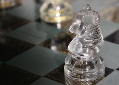 The Knight (Helen Orozco) Tags: macromondays memberschoicegamesorgamepieces hmm knight chesspiece glasspiece glass