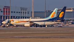Jet Airways Boeing B737-800 VT-JFB Bangalore (BLR/VOBL) (Aiel) Tags: jetairways boeing b737 b737800 vtjfb bangalore bengaluru canon60d tamron70300vc