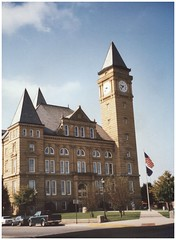 Kokomo Indiana - Tipton Courthouse - Historic (Onasill ~ Bill Badzo) Tags: kokomo in courthouse romanesque tower clock sky blue clouds nrhp historic building 1894 us route railroad onasill landmark history industrial town city attractionsite indiana tiptoncounty tiptoncourthouse
