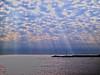 Hampton State Beach Sun Through Clouds (walter_g) Tags: sonya6000 minoltamc58mmf12 rawtherapee53 gimp296 nikcolorefexpro