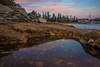 ROCK POOLS MANLY BEACH (James Stonley) Tags: rock pools manly beach sydney blue hour reflection sunlight pink sky