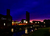 Leeds, 1 December 2017 (Powderpuff GP) Tags: fz1000 lights nightphotography silhouette architecture industry sunset leeds