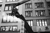 Steam Venting Pipe and Boom Crane (Zach K) Tags: steam pipe venting underground system excess runoff boom crane lift propell upwards bring up ladder new york city nyc construction heating fujifilm fuji xt2 geometry fashion district garment manhattan acros