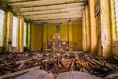 Abandoned Gym (Urbex Germania) Tags: lostplace lostplaces abandoned places urbex urbanexploring decay germany eastgermany deutschland verfall verlassen kaserne gssd soviet ddr military wehrmacht gym turnhalle urbexgermania