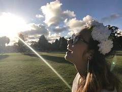 Pure happiness it is (doubleshotblog) Tags: sunworship rayofsun chicpicnic whitepicnic white flowers hippie centennialpark australia sydney deb dinerenblanc happiness