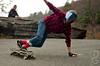 Toeside with spark (davegammon.media) Tags: downhill downhillskateboarding longboard longboarding skateboard skateboarding skateny freeride skater action sport street road sesh dh dhlongboarding nylongboarding toeside slide