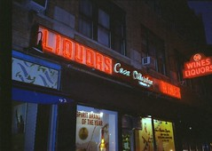 Liquors West Village NYC (Meredith Jacobson Marciano) Tags: liquors wines neon sign 35mm