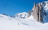 Skier goes downhill on a alpine glacier (altextravel) Tags: adventure alps backcountry chamonix clearsky cliff cold expedition france glacier blue holiday landscape man montblanc mountain nature outdoors panorama peak rock scenic ski skier sky snow snowy sport skiing steep travel one valley view white wilderness winter