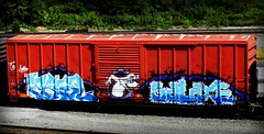 tawl - galaxe (timetomakethepasta) Tags: tawl galaxe fb lords freight train graffiti art eec boxcar benching selkirk new york