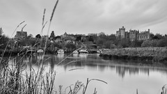Arundel Castle (Sam Codrington) Tags: arundelcathedral castle westsussex cathedral water arundel buildings outdoor longexposure arundelcastle london river architecture boat blackandwhite romancatholic southdowns england unitedkingdom gb landscape