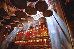 Man Mo temple in Hong Kong (Patrick Foto ;)) Tags: ancient asia belief buddha buddhism buddhist burn ceiling china chinese coil culture east faith fire fortune history hong hongkong hope incense interior kong light luck man meditation mo monument offering oriental pray prayer red religion religious scent shrine smell smoke stick success temple tour tourism travel wealth wish worship worshiping hongkongisland hk