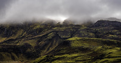 Low Clouds (katrin glaesmann) Tags: iceland island unterwegsmiticelandtours photographyholidaywithicelandtours clouds somewhereiniceland atriptoremember wherestrangersbecomefriends moss mountains