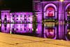 Purple Train -  Station.   Explored.  18-10-2017. (-Metal-M1KE-) Tags: unionstationkansascitymissouri unionstation kansascity kansascitymissouri missouri blochfountain nightphotography purple kansascitychiefs chiefs