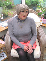 Nancygryneck-002 (fionaxxcd) Tags: cd tg ts ladyboy drag femmeboi mtf m2f transvestite tranny trannie crossdresser crossdressing xdresser xdressing boobs bust turtleneck miniskirt