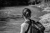 looking on (jellamalo) Tags: nature hike river adventure blakandwhite