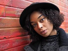 Indira (jeffcbowen) Tags: indira street stranger hat eyes toronto nigeria arctic india