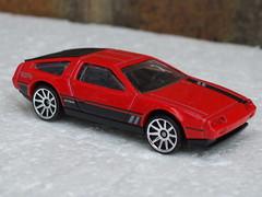 Hot Wheels Red 1981 DeLorean DMC-12 (beetle2001cybergreen) Tags: hot wheels red 1981 delorean dmc12