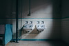as.memory.fades (jonathancastellino) Tags: abandoned derelict decay ruin ruins leica q bathroom fixture light shadow sink tub faucet tile paint peel knitting mills cannonknittingmills