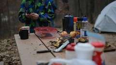 Deep Lake Campground (Jodimichelle) Tags: yankeesprings camping outdoor schaapfamily 2017 november2017 november thanksgiving deeplake michigan castironcooking overthefire bythefire wind fire water