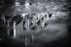 Reflection (Pablo S.O.) Tags: reflection water buildings bw
