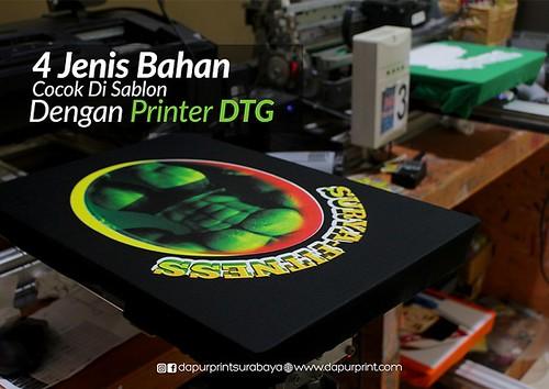 4 Jenis Bahan Cocok Di Sablon Dengan Printer DTG