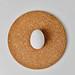 Centered raw egg