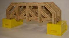 Modular origami truss bridge (ISO_rigami) Tags: modular origami a4 zebra 3d truss bridge paper construction