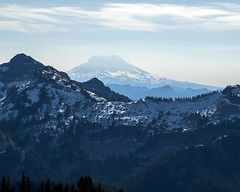 View of Mt. Adams from Mt. Rainier above timberline (wplynn) Tags: mtrainiernationalpark mountrainiernationalpark mtrainier mountrainier mt mount mountain rainier volcano volcanic washington state cascade cascaderange mtadams timberline mountadams