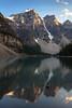 Moraine Lake tranquility; Banff National Park, AB (Image 5) (Martin Thielmann) Tags: ab banffnationalpark morainelake mtbowlen mtlittle mtperren mttonsa glacialledge waningraysofeveningsunlight waterreflections