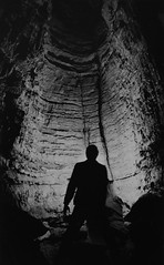 Candlelight painting (film) (pablo_blake) Tags: 35mmfilm bw crabtreecave maryland garretcounty cave spelunking kodaktx5063 nikonem filmfilmforever polycontrastrapidiirc trix film ybs2017 candlelight lowkey monochrome caving