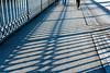 Le temps qui passe ne se rattrape guère (Poupetta) Tags: shadows stockholm bridge