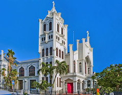 St Paul's Episcopal Church, 401 Duval Street, Key West, Florida, USA / Completed: 1912 (Jorge Marco Molina) Tags: stpaulsepiscopalchurch 401duvalstreet keywest florida usa 1919 city cityscape urban downtown skyline monroecounty southflorida floridakeys density centralbusinessdistrict historical building architecture commercialproperty cosmopolitan metro metropolitan metropolis sunshinestate realestate condominium palmtrees highrise urbanpalms beach southernmostcityinthecontiguousunitedstates duvalstreet bluesky johnfleeming