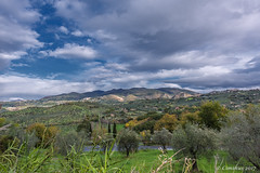 The green hills of Sabina land with olive groves. (Ciminus) Tags: landscape naturesubjects nikon sabina ciminodelbufalo nature northernlazio olivegroves italy nikond810 hills lazio afsnikkor1424mmf28ged clouds