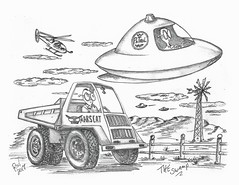 The Swamp (rod1691) Tags: bw scifi grey concept custom car retro space hotrod drawing pencil h2 hb original story fantasy funny tale automotive art illistration greyscale moonpies sketch sexy