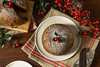 Sweet Homemade Christmas Figgy Pudding (brent.hofacker) Tags: background berries brandy cake christmas christmaspudding cream december decorated decoration dessert dining dish dried english festive figpudding figgy figgypudding food fruits holiday holly homemade hot leaves merry nuts plate plum pudding red seasonal sprig steamed table traditional winter xmas yule