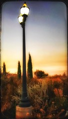 Desert sky... (Sherrianne100) Tags: desert scenery colorful streetlamp sunset arizona