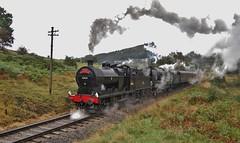 Worth Valley Double (paul_braybrook) Tags: 43924 lms 4f steamlocomotive battleofbritain southernrailway pacific oakworth worthvalleyrailway kwvr trains railway