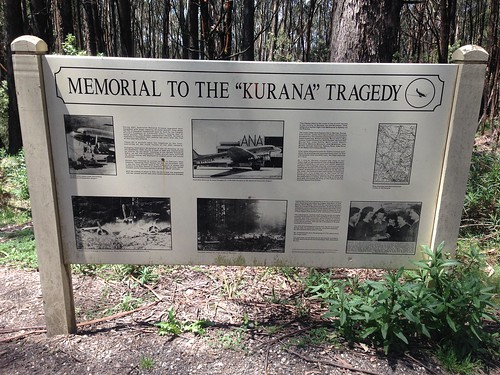 Memorial sign to 'Kurana' plane crash