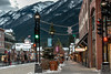 Banff Avenue on a November Morning (Susan.Johnston) Tags: alberta banff banffavenue downtown canada150 canada mountains banffnationalpark rockymountains