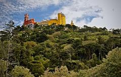 perché et entouré ... (jean-marc losey) Tags: portugal sintra palais delapena parc botanique baroque d700