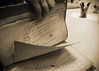 A day in the library (Argyro Poursanidou) Tags: paper library file book notebook hand old history letter table sepia monochrome text