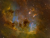 TadPoles Nebula (IC410) close up in Hubble Palette (SII/Hα/OIII) (Carballada) Tags: astrophotography astronomy deep space astro celestron zwo as1600mmc skywatcher ts sky qhy qhy5iii174 narrowband astrometrydotnet:id=nova2349591 astrometrydotnet:status=solved