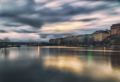 Awakening city of Helsinki (BigWhitePelican) Tags: helsinki hakaniemi finland sea morning water reflections clouds peaceful canoneos70d adobelightroom6 niktools 2017 november